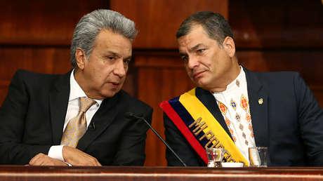 Lenín Moreno y Rafael Correa en Quito, Ecuador, el 24 de mayo de 2017.
