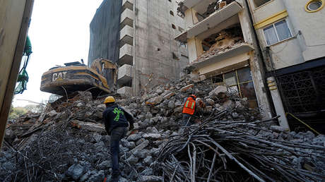 Edificios dañados en la Ciudad de México, 15 de febrero de 2018.