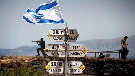 Un puesto de observación en los Altos del Golán en la frontera entre Israel y Siria.