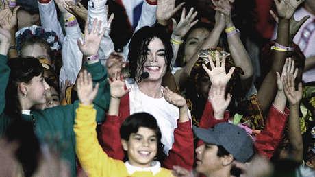 Michael Jackson tras actuar en la Super Bowl XXVII, el 31 de enero de 1993.