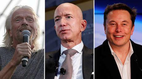 Richard Branson, Jeff Bezos y Elon Musk.