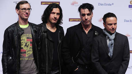 Miembros de la banda alemana Rammstein en Berlín, el 24 de marzo de 2011.