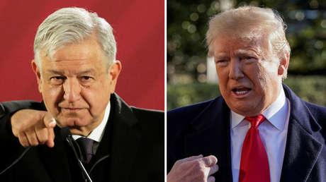 El presidente de México, Andrés Manuel López Obrador, y su homólogo estadounidense, Donald Trump