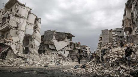 Edificios residenciales en Idlib, 14 de marzo de 2019
