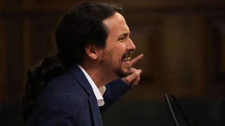 Pablo Iglesias en el Congreso de los Diputados. Madrid (España).