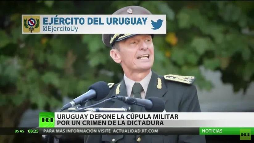 Uruguay destituye a su cúpula militar por un crimen de la dictadura