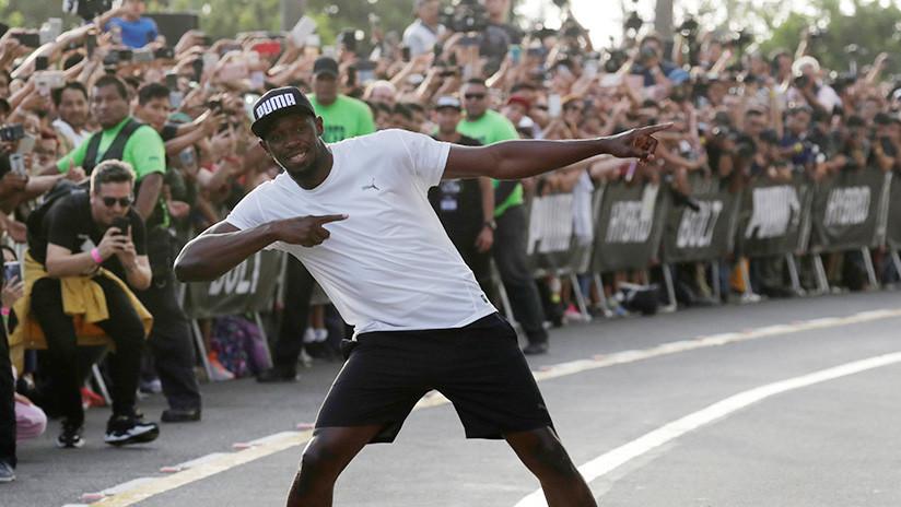 Usain Bolt 'compite' contra una mototaxi en Lima y sale vencedor (FOTOS, VIDEO)
