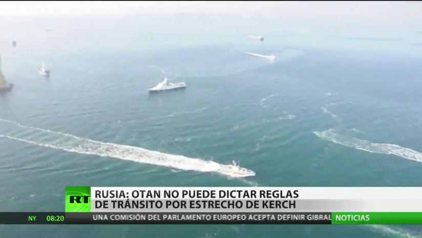 Rusia: La OTAN no puede dictar reglas de tránsito por el estrecho de Kerch