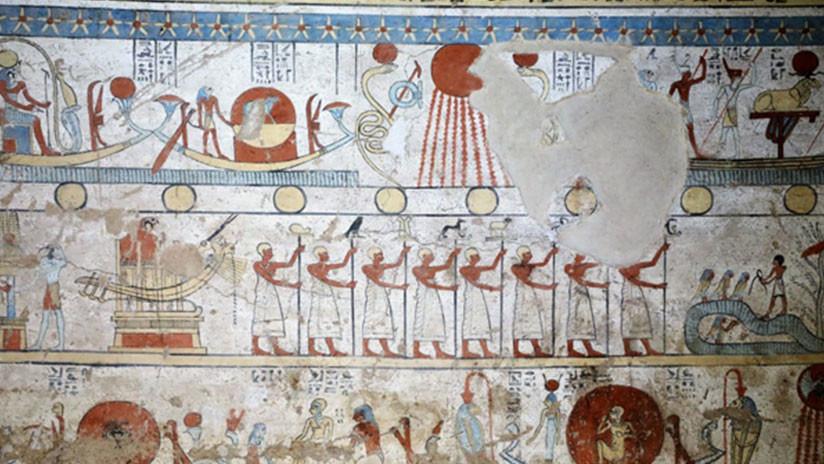 Descubren en Egipto una tumba con pinturas bien conservadas y animales momificados (VIDEO, FOTOS)
