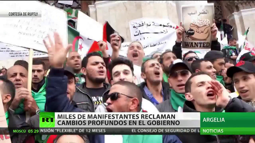 Argelia: Miles de manifestantes reclaman cambios profundos en el Gobierno