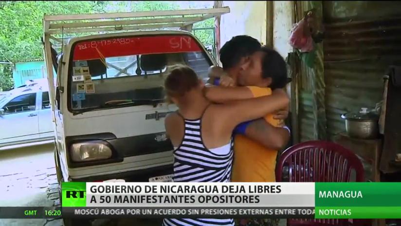 Nicaragua libera a 50 manifestantes opositores