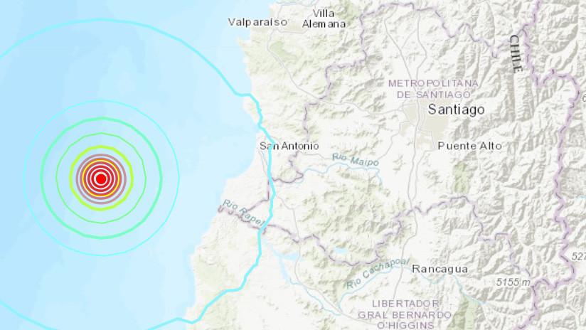 Un sismo de magnitud 5,7 sacude la costa de Chile