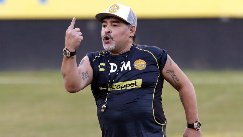 La Federación Mexicana de Fútbol sanciona a Maradona por dedicar un triunfo a Maduro y criticar a Trump