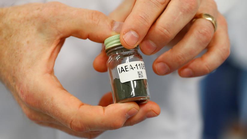 Una muestra de uranio.