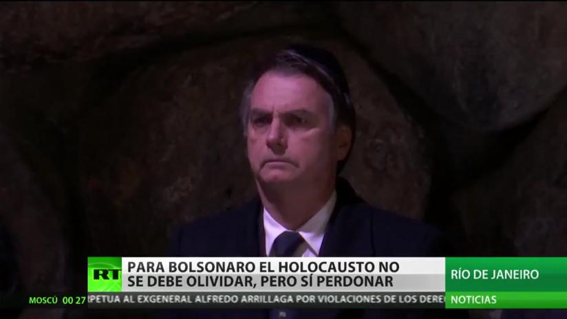 Bolsonaro afirma que el Holocausto puede ser perdonado pero no olvidado