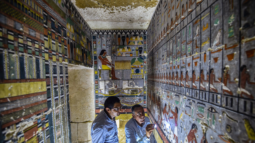 FOTOS: Desvelan una colorida tumba de la dinastía que gobernó Egipto hace 4.300 años