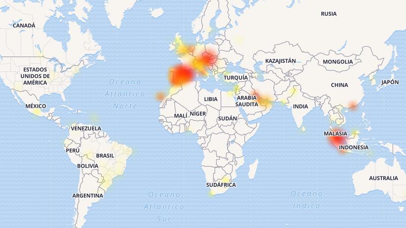 Facebook, Instagram y WhatsApp caen en varios países del mundo