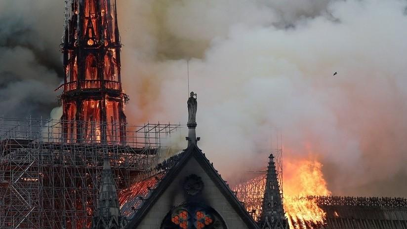 Bomberos: La estructura de Notre Dame de París se ha salvado de la destrucción total