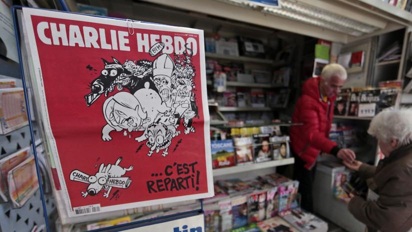 La revista satírica Charlie Hebdo reacciona al incendio de Notre Dame 'quemando' el pelo a Macron