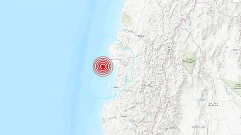 Se registra un sismo de magnitud 5,8 al noroeste de Chile