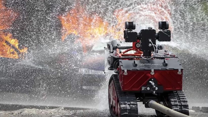 VIDEO: Un 'robot bombero' controlado a distancia ayudó a salvar Notre Dame