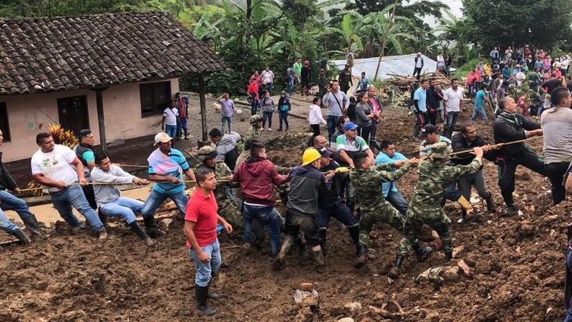 Tragedia en Cauca por deslizamiento de tierra, al menos 10 personas muertas