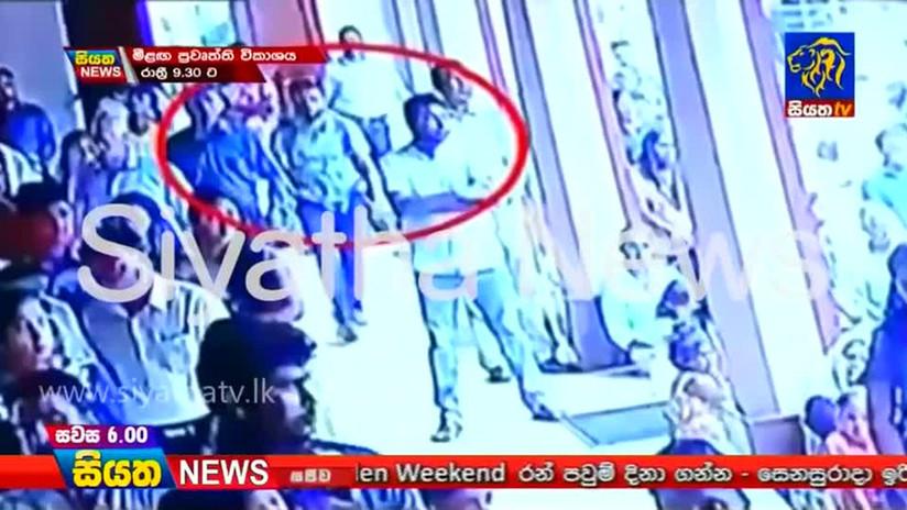 VIDEO: Presunto autor de uno de los atentados en Sri Lanka fue grabado justo antes de que una explosión arrasara una iglesia