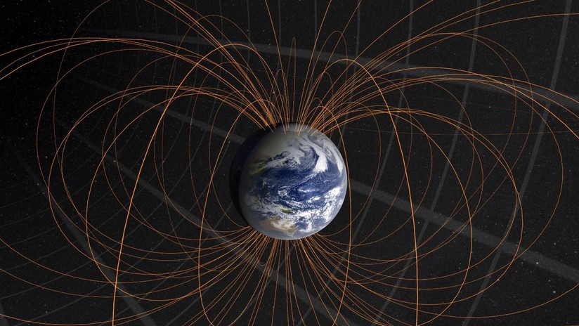 Núcleo de la Tierra es el causante del desplazamiento del polo norte magnético