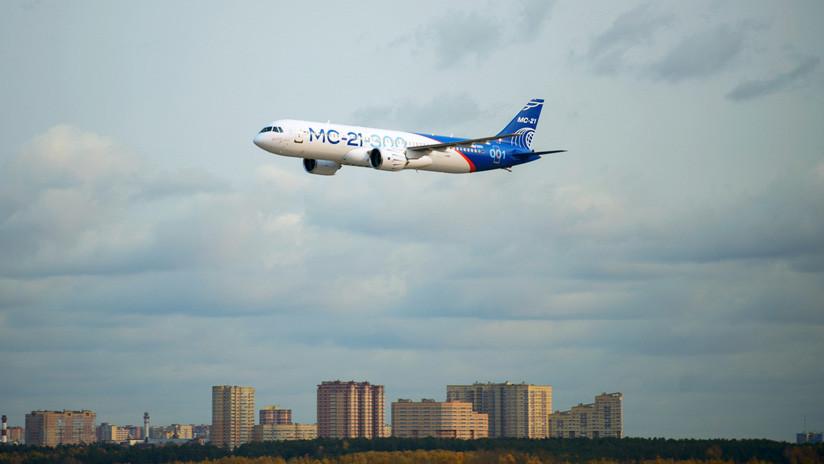 Nuevo avión de pasajeros ruso cambia sus motores estadounidenses por otros de fabricación nacional