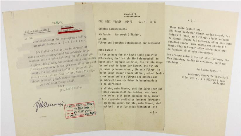Sale a subasta la 'nota suicida' de Hitler a un mariscal