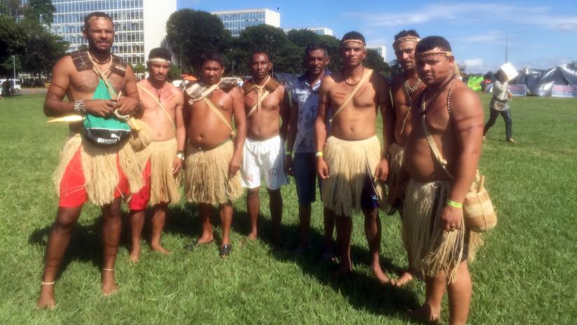 FOTOS: Indígenas brasileños protestan en la capital contra las políticas de Bolsonaro