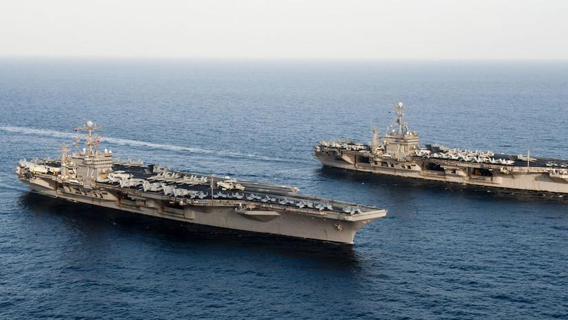 La Armada de EE.UU. asegura que la presencia de dos de sus portaviones en los ejercicios del Mediterráneo fue una coincidencia