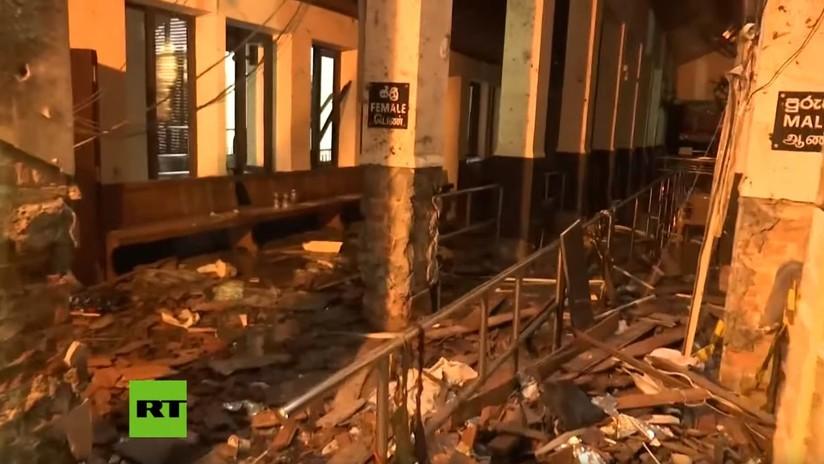 VIDEO: Las primeras imágenes del interior de una de las iglesias atacadas el Domingo de Pascua en Sri Lanka