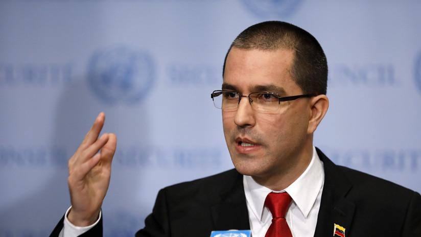 """Rusia, """"indignada"""" por las sanciones de Estados Unidos contra el canciller venezolano Jorge Arreaza"""