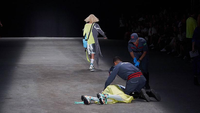 FOTOS: Modelo muere en la pasarela durante la semana de la moda en Brasil
