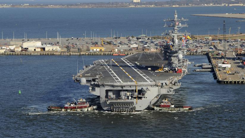 EE.UU. admite que el video iraní de su portaviones en el golfo Pérsico es verdadero pero afirma que no es nuevo