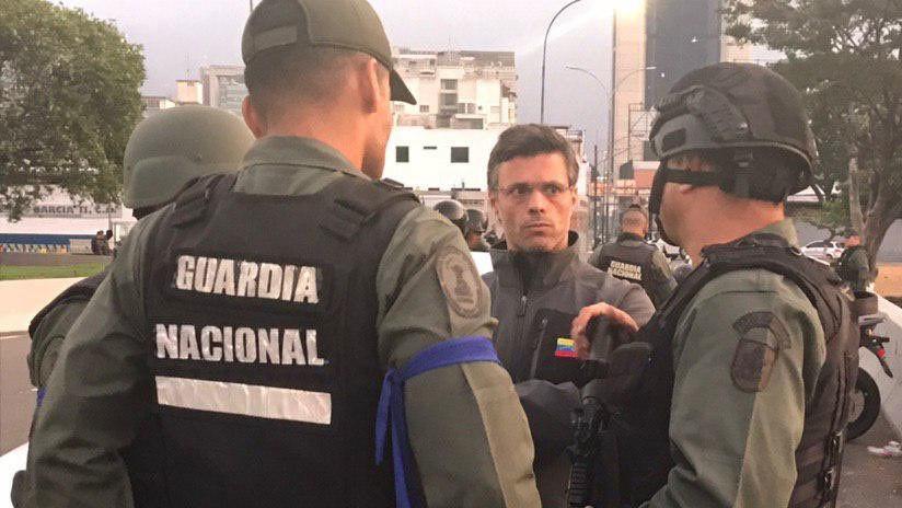 Fuerzas antichavistas sacan a Leopoldo López de su arresto domiciliario