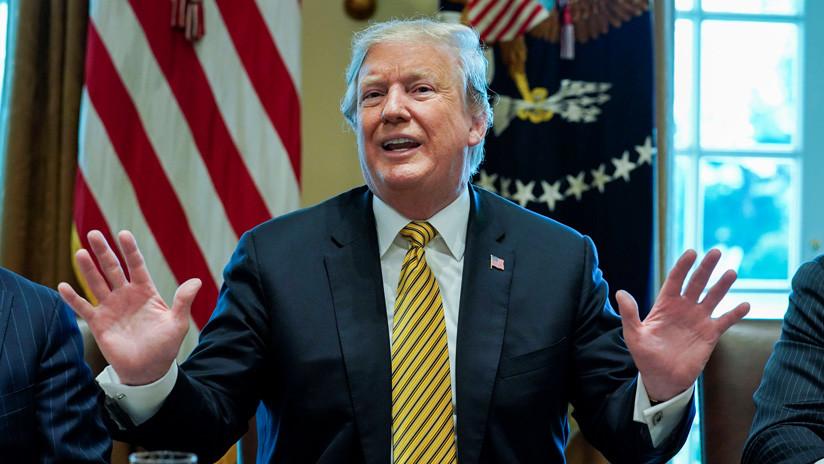 El presidente de EE.UU., Donald Trump, durante una reunión con su gabinete, Casa Blanca, Washington, 4 de abril de 2019.