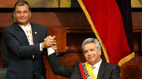 Rafael Correa y Lenín Moreno, Quito, el 24 de mayo de 2017.