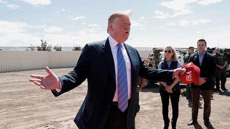 El presidente de EE.UU., Donald Trump, durante la visita a la frontera con México, el 5 de abril de 2019.