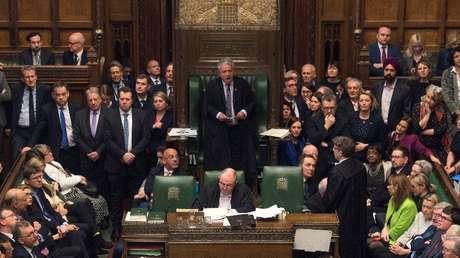 Parlamento británico, Londres, el Reino Unido, 29 marzo de 2019