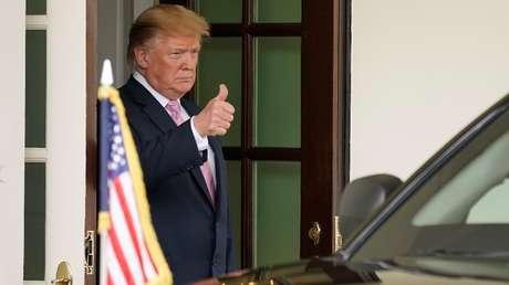 El presidente de EE.UU., Donald Trump, en Washington, el 9 de abril de 2019