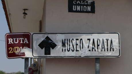 Indicaciones para ir al Museo Zapata en Anenecuilco, tierra natal del líder revolucionario, México.