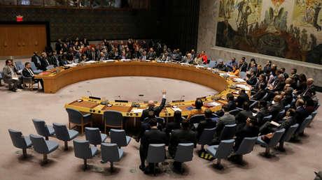 Los miembros del Consejo de Seguridad en la sede de la US en Nueva York, EE. UU., 28 de febrero de 2019.