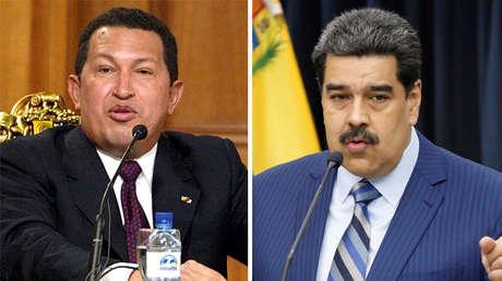 El fallecido expresidente venezolano Hugo Chávez y el actual mandatario, Nicolás Maduro.