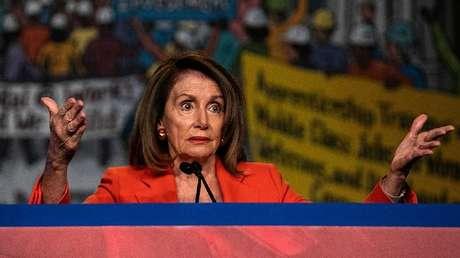 La presidenta de la Cámara de Representantes de EE.UU., Nancy Pelosi, en Washington, el 9 de abril de 2019