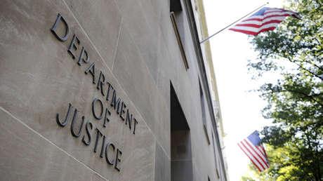 El edificio del Departamento de Justicia en Washington D.C., EE.UU.