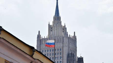 Edificio del Ministerio de Asuntos Exteriores de Rusia en Moscú.