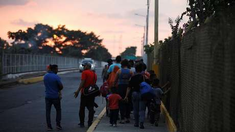 Imagen ilustrativa. Un grupo de migrantes en Tecún Umán, Guatemala, el 11 de abril de 2019