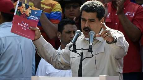 El presidente de Venezuela, Nicolás Maduro, en Caracas, el 6 de abril de 2019
